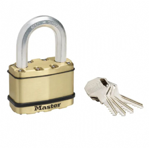 Master Lock M15BEURDLF Excell Brass Finish 64mm Padlock - 38mm Shackle